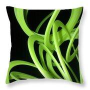 Yellow Slinky 2 Throw Pillow
