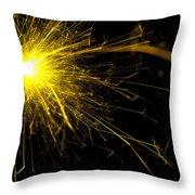 Yellow Sparkle Throw Pillow