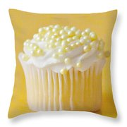Yellow Sprinkles Throw Pillow