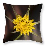 Yellow Star Flower Throw Pillow