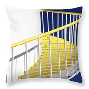 Yellow Steps 2 Throw Pillow