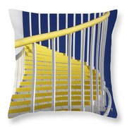 Yellow Steps On Tank Throw Pillow
