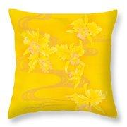 Yellow Stream Throw Pillow