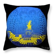 Yellow Submarine 2 Baseball Square Throw Pillow