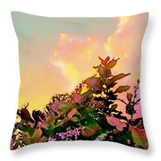 Yellow Sunrise And Flowers - Vertical Throw Pillow