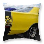 Yellow Superbee  Throw Pillow