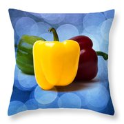 Yellow Sweet Pepper - Square - Textured Throw Pillow