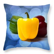 Yellow Sweet Pepper - Textured Throw Pillow