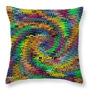 Orange Swirl Ripple Abstract Throw Pillow