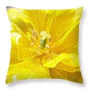 Yellow Tenderness Throw Pillow