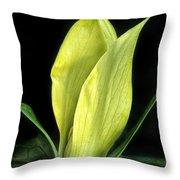 Yellow Trillium Throw Pillow