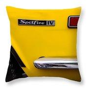 Yellow Triumph Spitfire Throw Pillow