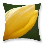 Yellow Tulip 1 Throw Pillow