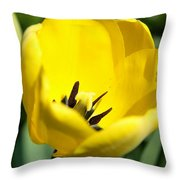 Yellow Tulip Cup Throw Pillow