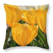 Yellow Tulip Throw Pillow