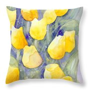Yellow Tulips 1 Throw Pillow