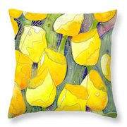 Yellow Tulips 2 Throw Pillow