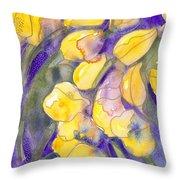 Yellow Tulips 3 Throw Pillow