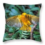 Yellow Warbler Dendroica Petechia Throw Pillow
