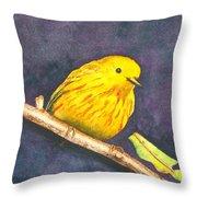 Yellow Warbler II Throw Pillow