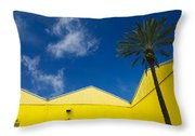 Yellow Warehouse Throw Pillow
