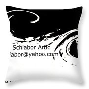 Yellow Wave Abstract Throw Pillow