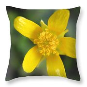 Yellow Weed Flower Throw Pillow