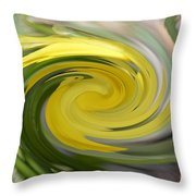 Yellow Whirlpool Throw Pillow