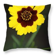 Yellow Wild Flower Throw Pillow