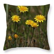 Yellow Wild Flowers Along The Chehalis Trail Throw Pillow