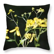 Yellow Wildflowers Throw Pillow