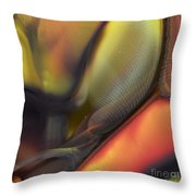 Yellow With Texture Throw Pillow