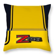 Yellow Z28 Throw Pillow