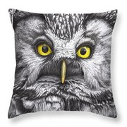 Yelloweyes - The Owl Edition Throw Pillow
