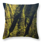 Yellows And Greens  Throw Pillow