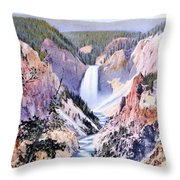 Yellowstone Canyon Yellowstone Np Throw Pillow