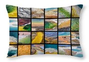 Yellowstone Colors Throw Pillow