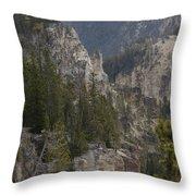 Yellowstone Grand Canyon Throw Pillow