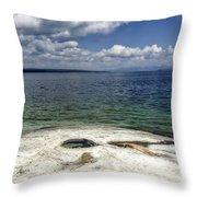 Yellowstone Lake Throw Pillow