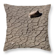 Yellowstone Mud And Rock   #1750 Throw Pillow