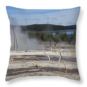 Yellowstone National Park - Hot Springs Throw Pillow