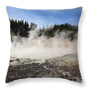 Yellowstone National Park - Mud Pots Throw Pillow