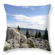 Yellowstone N P Landscape Throw Pillow