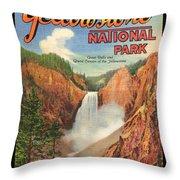 Yellowstone Park Throw Pillow