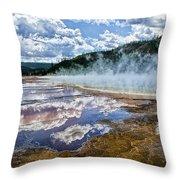 Yellowstone - Springs Throw Pillow