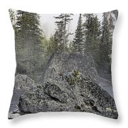 Yellowstone - The Rock Tree Throw Pillow