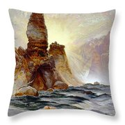 Yellowstone Tower Falls Throw Pillow