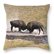 Yellowstone Turf War Throw Pillow