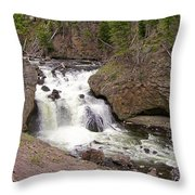 Yellowstone Waterfalls Throw Pillow