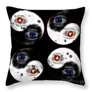 Yin-yang Black And White Throw Pillow